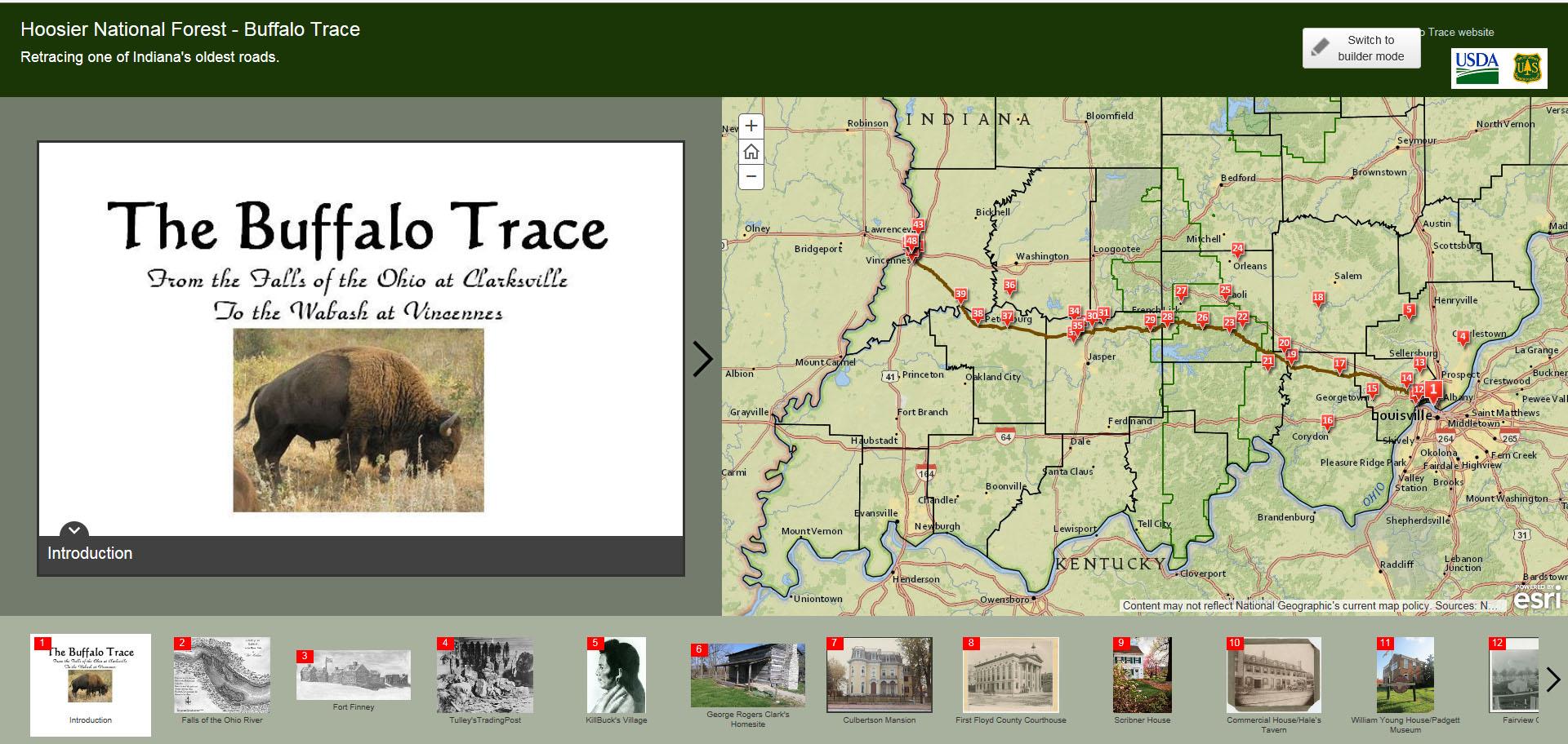 Interactive Story Map   Buffalo Trace Trail